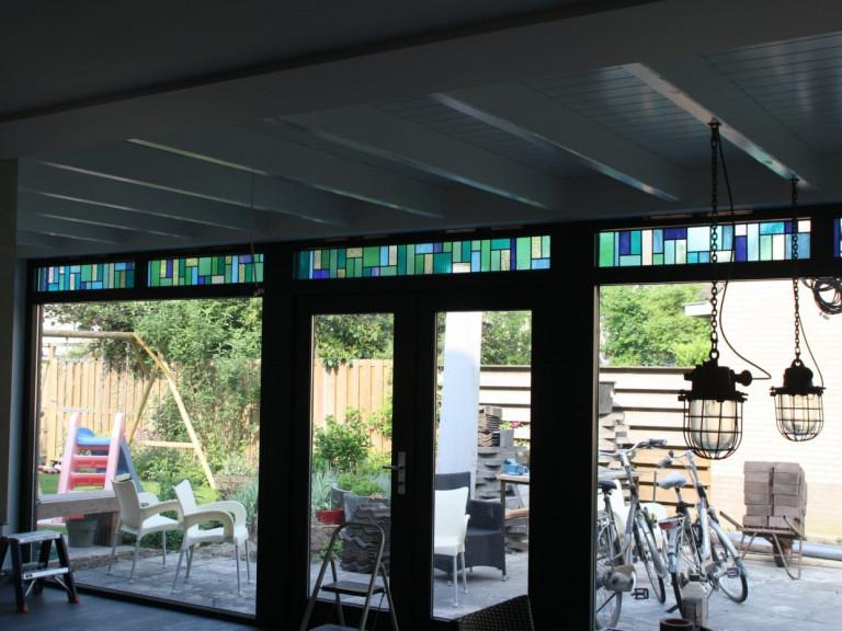 Bovenlichten in glas in lood