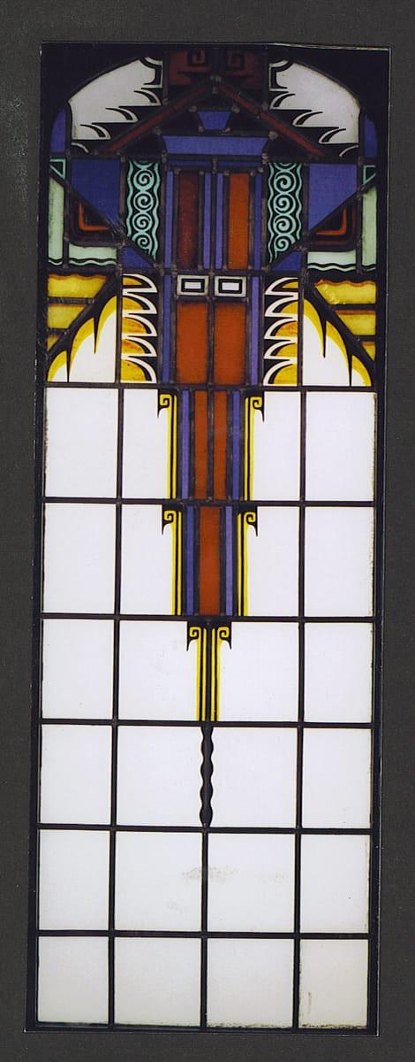 Gerestaureerd 'Amsterdamse School' raam